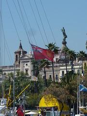 Fun with flags (Bertran de Seva) Tags: barcelona barcelonès catalunya catalonia flag bandera jersey boat iot port mercè sautire