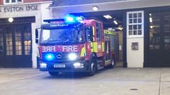 NEW LFB Euston Pump Responding (slinkierbus268) Tags: lfb london fire brigade euston firestation fireappliance fireengine mercedes atego mark 3 brand new central responding emergency bluelights