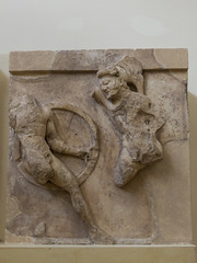 "Delphi, The Athenians' Treasury Metopes – Herakles Cycle, 8 (egisto.sani) Tags: delfi museo metopes metope herakles heracles eracle kyknos cycnus cicno ""archaic period"" arcaico periodo art arte arcaica period treasury tesoro ""athenians treasury"" ""tesoro degli ateniesi"" phocis focide delphi ""archaeological museum"" ""museo archeologico"""