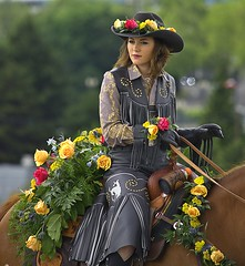 Roses & Riding (swong95765) Tags: woman rider equestrian roses flowers bokeh female lady parade