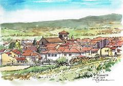 Vista de Piedrahita (P.Barahona) Tags: paisaje piedrahita urbansketcher