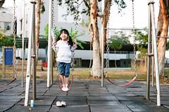 My World (藍川芥 aikawake) Tags: girl play myworld film kodak portra400 swing fun enjoy life love cute smile happy happiness happyday kid child 小女孩 beautiful beauty outdoor 遊戲 盪鞦韆 底片 柯達
