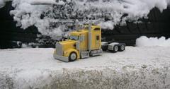 Kenworth W900L yellow (Scale model truck 1/100) (Plast&Cars) Tags: kenworth w900l yellow scale model truck 1100