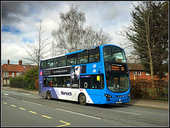 First Eastern Counties 36178 (Jason 87030) Tags: wright eclipse gemini blueline 25 2017 sony alpha a6000 ilce nex norwich norfolk colmanroad work bd11cdx first easterncounties 36178 trees road weather publictransport doubledecker uea university eastanglia