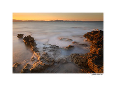 Sunset lights (g.femenias) Tags: sacolòniadesantpere artà mallorca sunset sunsetlight sea seascape landscape rocks mountains longexposure daytimelongexposure ndfilter nature redrocks