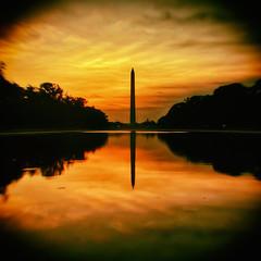 All Our Questions Blur Together (Thomas Hawk) Tags: america districtofcolumbia usa unitedstates unitedstatesofamerica washingtondc washingtonmonument sunrise washington us fav10 fav25 fav50 fav100