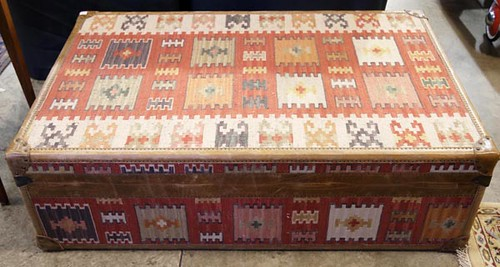 Carpet Covered Travel Trunk ($246.40)