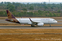 VT-TTL Vistara Airbus A320-232(WL) - cn 7163 (Sri_AT72 (Sriram Hariharan Photography)) Tags: vistara airbus a320 a320232 vtttl hyd vohs rajiv gandhi international airport hyderabad telengana andhra pradesh plane spotting aviation photography terminal viewing passion avgeek march 2017 spotter