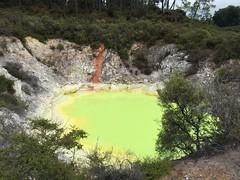 Stinky Shiny Yellow Pool (eyair) Tags: ashmashashmash rotorua nz newzealand waiotapu thermalwonderland