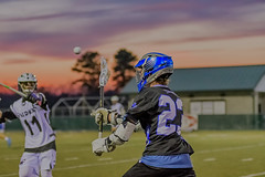 Playing During Sunset (Chatterstone Photography) Tags: wareagles southforsyth coleman lacrosse varsity southforsythhighschool highschool lax northforsyth