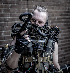 Post-apocalyptic madness (docdimira) Tags: guy man postapocalyptic postapoc cosplay madness gun portrait portraits people