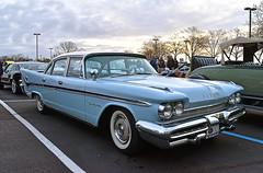 1959 DeSoto Fireflite (Thumpr455) Tags: upstatecarscoffee greenville sc march 2017 nikon d5500 afnikkor70300mmafpvr 1959 desoto fireflite fins blue mopar worldcars