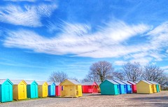 Photo of Colourful sheds.