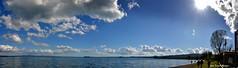 passeggiando lungo la spiaggia di Grotte di Castro lago Bolsena (oscar.martini_51) Tags: cielo nuvole lago bolsena spiaggia isola bisentina grotte di castro tuscia sole