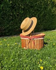 Le printemps... (jeremy.toma) Tags: printemps paille panier canotier campagnegenevoise campagne pregnychambésy