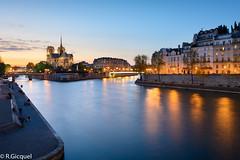 Notre Dame (Paris) (renan4) Tags: notredame paris seine bluehour sunset îledelacité îlesaintlouis quais france travel trip cityscape nikon d800 1635mm europe renan4 renan gicquel