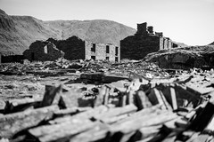 Rhosydd Barracks [Explored] (ShrubMonkey (Julian Heritage)) Tags: rhosydd quarry cwmorthin slate disused derelict abandoned forgotten ruin ruined eerie landscape valley wales building secluded isolation mountains sonyalpha level9 barracks mono bw