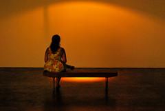 You're so far away from me (anselmoportes) Tags: sãopaulo brazil brasil alone sitting loneliness bench banco sentada sozinha