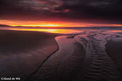 Sunrise beach (aland67) Tags: landscape seascape clouds river sunrise mountain beach new zealand sand leend09hard longexposure alanddewit south pacific ocean sea tide waves refelections island moeraki