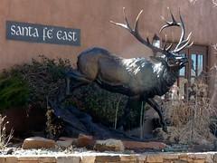 Downtown Santa Fe (honestys_easy) Tags: nm newmexico santafe southwest madrid sculpture bronza bronze