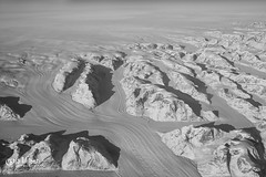 Snow Valley (wilbias) Tags: plane winter cold view white aerial snow ice glacier greenland black