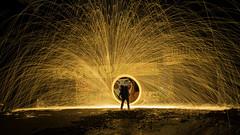 In here face (lizard.land) Tags: steel wool steelwoll nikon d7100 light painting lightpainting night urbex