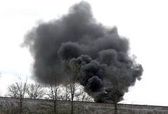 ...Smokeland... (carbumba) Tags: fire smoke black field farmfield burn outdoors land