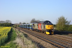 37800 Thurmaston 07-04-17 (benwheeler) Tags: thurmaston barkby 37800 europhoenix rail operations group rog south eastern 5q72 derby litchurch lane wembley electrostar 375
