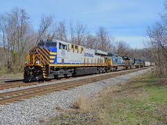 CREX 1515 + four more (Trains & Trails) Tags: crex leasing leaser cityrail 1515 es44ac q39404 connellsville ge widecab pennsylvania fayettecounty generalelectric engine locomotive diesel transportation