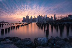 Lower Manhattan (Rudy Malmquist) Tags: new york city manhattan sun long exposure east river dumbo