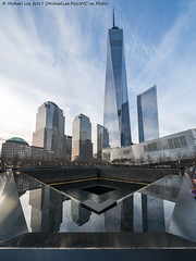9/11 Memorial (20170411-DSC09845-Edit) (Michael.Lee.Pics.NYC) Tags: newyork 911memorial onewtc worldtradecenter brookfieldplace architecture cityscape reflection mirror sony a7rm2 voigtlanderheliar10mmf56