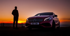 Mercedes Sunset (Jamesylittle) Tags: mercedes class aclass sunset merc car expensive 3 star badge owner red 20 liter b c mercedesbenz automobile german daimler ag stuttgart