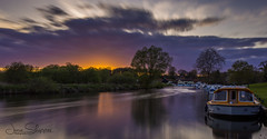 Sunset at Coltishall Green (jammo s) Tags: coltishall river norfolk 10stop longexposure bure riverbure sunset boat sky norfolksunset lightroom canoneos6d canonef1740mmf4lusm