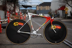 Rossin Trofeo Pursuit Pista (a.dangerpdx) Tags: rossin pursuit pista trofeo lowpro team olympic fir vintage wheels carbon 3ttt moscow cccp