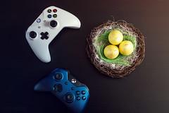 Happy Easter (danieldioszegi) Tags: easter happy controller eggs candle xbox xboxone one xboxones blue white yellow softbox