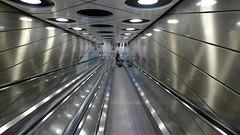 Silver Tunnel Vision (Eddy Allart) Tags: tunel schiphol airport amsterdam holanda