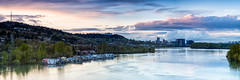 city on the river (Ben McLeod) Tags: graduatedndfilter oregon portland sellwoodbridge willametteriver clouds dusk floatinghomes panorama river skyline