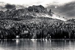 Black Mountain Misurina (Mario jr Nicorelli ( Salgareda Treviso )) Tags: bw montagne lago alpina ponte acqua alpi montagna livenza piave alpino misurina acque sudtirol oderzo mottadilivenza sandondipiave salgareda pontedipiave marionicorelli