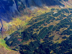 Alpine Meadows (Dru!) Tags: autumn shadow red orange brown canada colour green fall yellow work bc britishcolumbia scree seabridge alpinemeadows treaty nass coastmountains unuk iskut ksm bellirving boundaryranges treatycreek