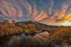 IMGP2742-Edit (Matt_Burt) Tags: sunset sky color fall water clouds creek flow fire colorado fisheye 8mm gunnison tomichi rokinon