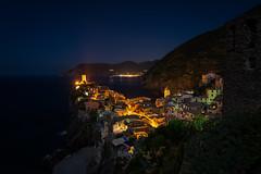 Vernazza at Night (Waldemar*) Tags: italy europe liguria bluehour vernazza italianrivera