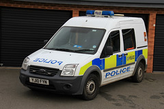 South Yorkshire Police Ford Transit Connect Station Van (PFB-999) Tags: ford station south yorkshire cell police cage transit vehicle leds van beacons connect grilles unit lightbar syp rotators yj10fyn