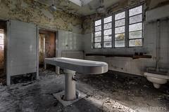 Morgue-7 (StussyExplores) Tags: england white abandoned death explore nhs exploration derelict porcelain slab morgue clinical urbex