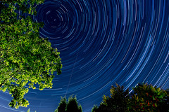 Stars and trails (Tangoman11) Tags: trees night stars star space trails astro universe
