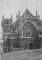 Exeter Cathedral 1920's (Bury Gardener) Tags: uk 1920s england blackandwhite bw vintage cathedral devon exeter oldies