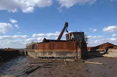 Staten Island Ship Graveyard (Mattron) Tags: nyc newyorkcity newyork abandoned ruins ship decay maritime nautical statenisland tidal arthurkill shipgraveyard