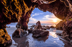 Nikon D810 HDR Photos Malibu Sea Cave Sunset, Dr. Elliot McGucken Fine Art Photography!  14-24mm Nikkor Wide Angle F2.8 Lens (45SURF Hero's Odyssey Mythology Landscapes & Godde) Tags: sunset red sea orange cloud sun art beach beautiful yellow clouds photography high nikon scenery dynamic dr gorgeous fineart fine scenic wideangle malibu socal cave nikkor elliot range hdr fineartphotography seacave sandsurf mcgucken elmatadorbeach d810 45surf f28lens nikond810 1424mm elliotmcgucken dx4dtic elliotmcguckenfineart nikond810hdrphotoslagunabeachsunset drelliotmcguckenfineartphotography1424mmnikkorwideanglef28lensnikond810hdrphotoslagunabeachsunset dynamicdimensionstheory