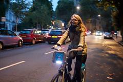Kristn on the Boris bike (rni Svanur Danelsson) Tags: autumn england london kristin kristn