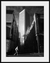 tall (Andrew C Wallace) Tags: street city bw skyscraper walking alley australia melbourne pedestrian victoria infrared cbd tall