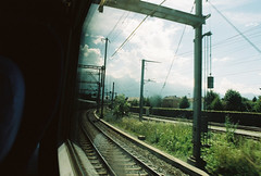 Train to Switzerland (Anders Hoft) Tags: italy rome film train 35mm canon dead 50mm switzerland europe shot ae1 travellers adventure backpacking program 24mm traveling aint interrail anders interlaken audun discover fd 2014 eurail hoft bratlie